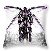 Deep Creek Hornet White Throw Pillow