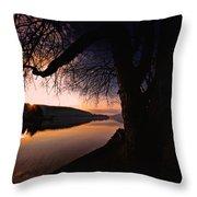 Deep Creek Sunrise Throw Pillow