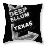 Deep Ellum Black And White Throw Pillow