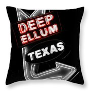 Deep Ellum In Red Throw Pillow
