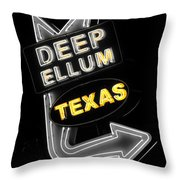 Deep Ellum In Yellow Throw Pillow