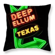 Deep Ellum Throw Pillow