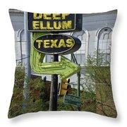 Deep Ellum Texas Throw Pillow