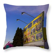 Deep Fried Throw Pillow