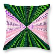 Deep Green And Pink Throw Pillow