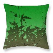 Deep Green Haiku Throw Pillow