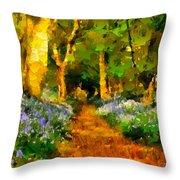 Deep In A Forest Throw Pillow