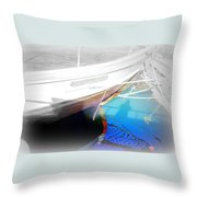 Take Me Into The Big Deep Blue Water Of The Sea  Throw Pillow