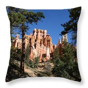 Deep In The Bryce Canyon Throw Pillow