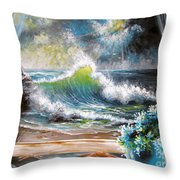 Deep In The Dark Of Day  Throw Pillow