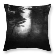 Deep In The Dark Woods Throw Pillow