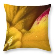 Deep In The Heart Of A Primrose Throw Pillow