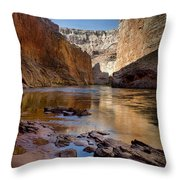 Deep Inside The Grand Canyon Throw Pillow
