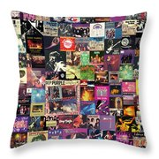 Deep Purple Collage Throw Pillow