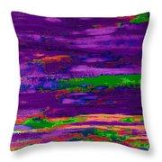 Deep Purple Horizontal Throw Pillow