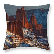 Deep Red In A Sea Of White Throw Pillow