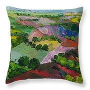 Deep Ridge Red Hill Throw Pillow