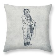 Deep Sea Diver - Nautical Design Throw Pillow by World Art Prints And Designs