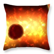 Deep Space Activity Digital Painting Throw Pillow