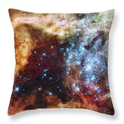 Deep Space Fire And Ice  Throw Pillow