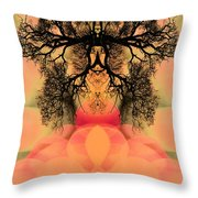 Deep Within Your Sacred Space Throw Pillow