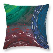 Deepen Abstract Shapes Throw Pillow