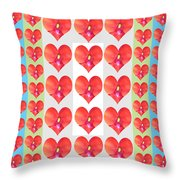 Deeply In Love Cherryhill Flower Petal Based Sweet Heart Pattern Colormania Graphics Throw Pillow