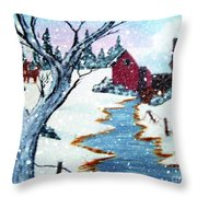 Deer At The Grist Mill Throw Pillow
