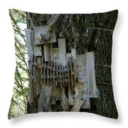 Deer Blind 01 Throw Pillow