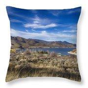 Deer Creek Dam-provo Utah Throw Pillow