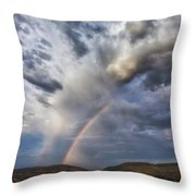 Deer Creek Storm Throw Pillow by Darren  White
