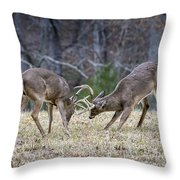 Deer Discussion E167 Throw Pillow