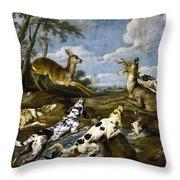 Deer Hunting Throw Pillow
