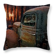 Deer Hunting Throw Pillow