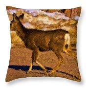 Deer In A Different Light Throw Pillow