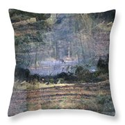 Deer Inside The Nature Throw Pillow