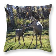 Deer Kiss Throw Pillow