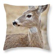White Tail Deer Profile Throw Pillow