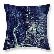 Deer Skull In Forest Throw Pillow