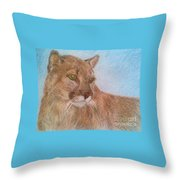 Deer Tiger Throw Pillow