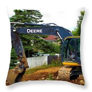 Deere For Hire Throw Pillow