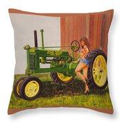 1938 Model B John Deere Throw Pillow