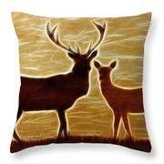 Deers Lookout Throw Pillow