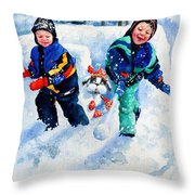 Defend Our Front Yard Throw Pillow