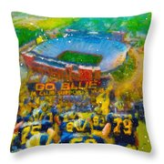 Defending The Big House Throw Pillow