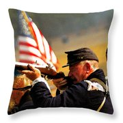Defending The Union Throw Pillow