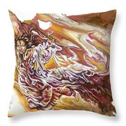 Defiance Throw Pillow by Karina Llergo