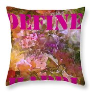 Define Happiness Throw Pillow