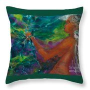 Defining Her Essence Throw Pillow by Ilisa Millermoon