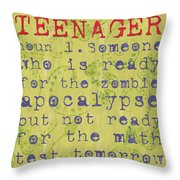 Definition Of Teenagers Throw Pillow
